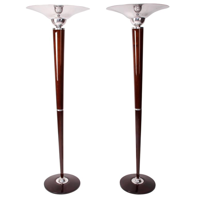Pair of Hungarian Art Deco Style Floor Lamps