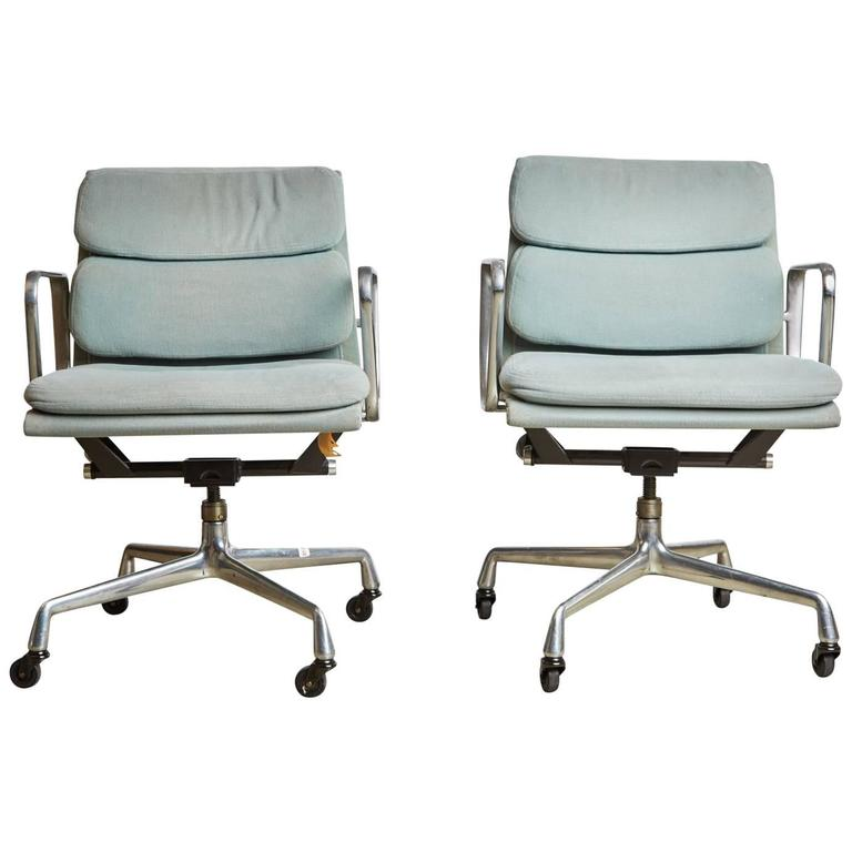 Pair Of Charles Eames For Herman Miller Soft Pad Task Chairs 1985 For Sale A