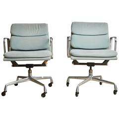Pair of Charles Eames for Herman Miller Soft Pad Task Chairs, 1985