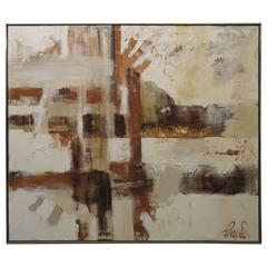 Gorgeous Large-Scale Lee Reynolds Abstract Painting, Mid-Century Modern
