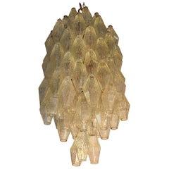 Carlo Scarpa Ceiling Lamp for Venini, Poliedri, 1950