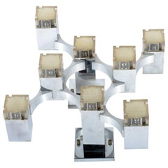 Eight Lights Wall Light or Flush Mounted by Sciolari Series Cubic, Mid-Century
