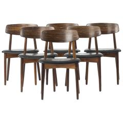 Set of Six Dining Chairs by Harry Ostergaard
