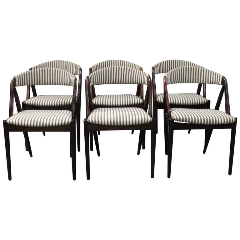 Set of Six Chairs, Model 31, by Kai Kristiansen and Schou Andersen, 1960s
