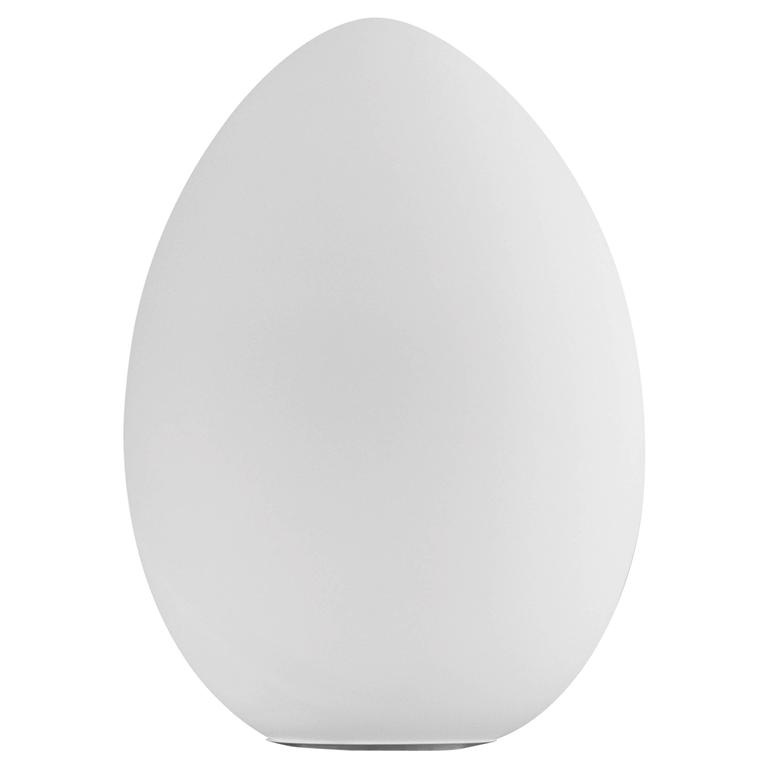 Fontana Arte Uovo Outdoor Lamp in Opaline White Polyethylene, Designed in 2008 For Sale