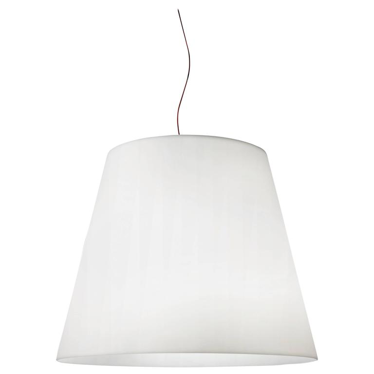 Charles Williams Fontana Arte Amax Suspension Lamp, Metal and Polyethylene, 2003 For Sale