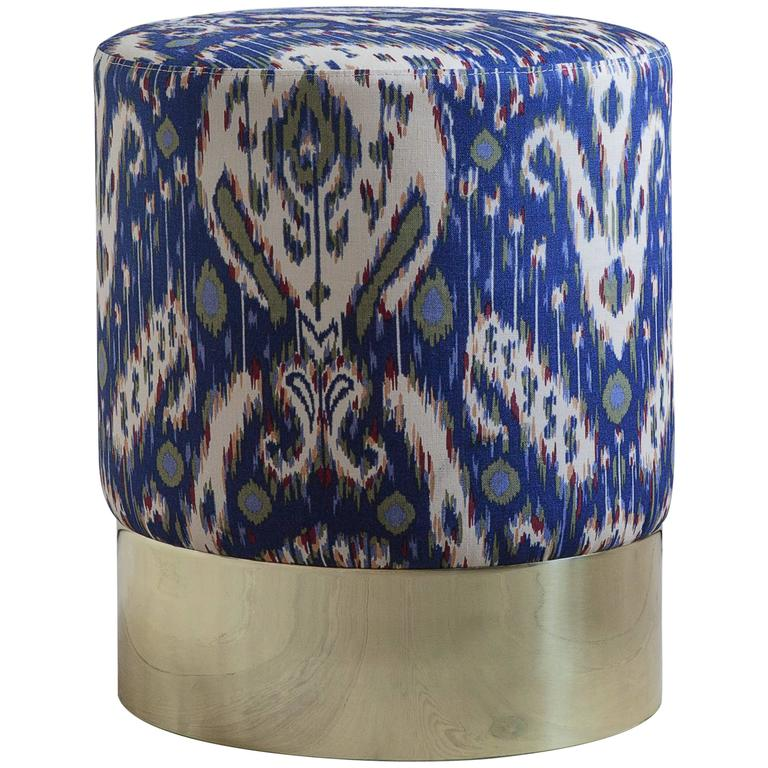 Azucena Stool in Printed Textile 1