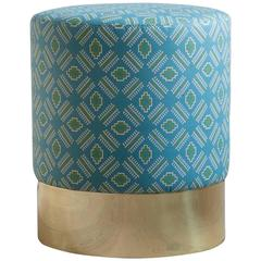 Azucena Stool in Printed Textile