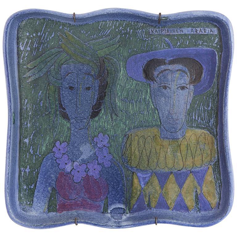 Vintage Birger Kaipiainen Ceramic Hanging Platter 1