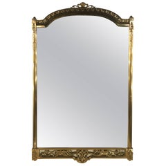 Italian Mirror with a Brass Frame, circa 1960