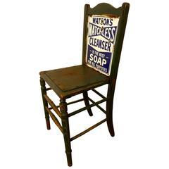 Shop Advertising Chair, Scottish Enamel Sign Watson's Matchless Soap