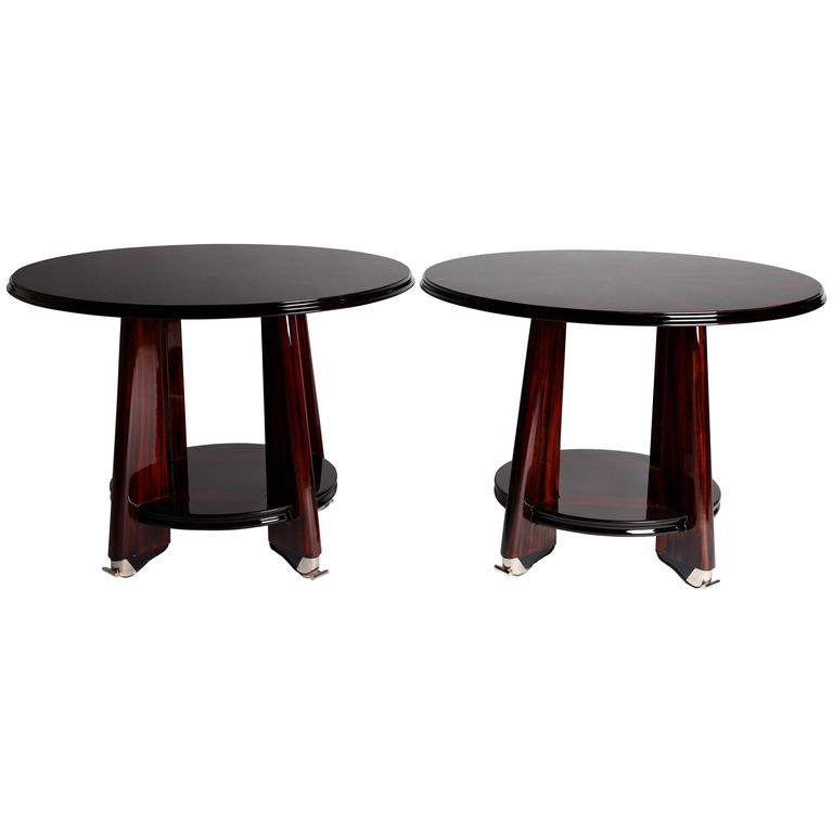 art deco two tier side table with chrome feet for sale at 1stdibs. Black Bedroom Furniture Sets. Home Design Ideas