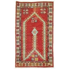 Antique Turkish Oushak Prayer Rug