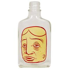 Barry Mcgee, Painted Face on Bottle, 1997