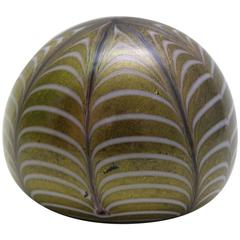 Handblown Murano Glass Paperweight Spiderweb Pattern