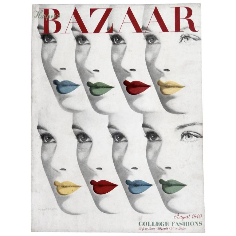 Herbert Bayer's 1940 Harper's Bazaar Cover For Sale