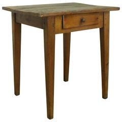 Antique French Pine Side Table