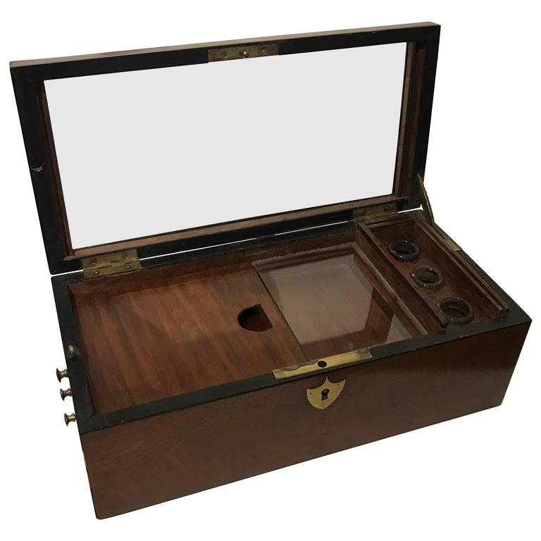 19th Century Mahogany Document Box For Sale