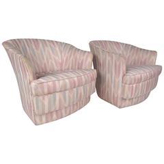 Pair of Mid-Century Modern Lounge Chairs by John Stuart Inc