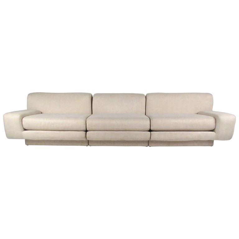 Milo Baughman Style Modern Sectional Sofa