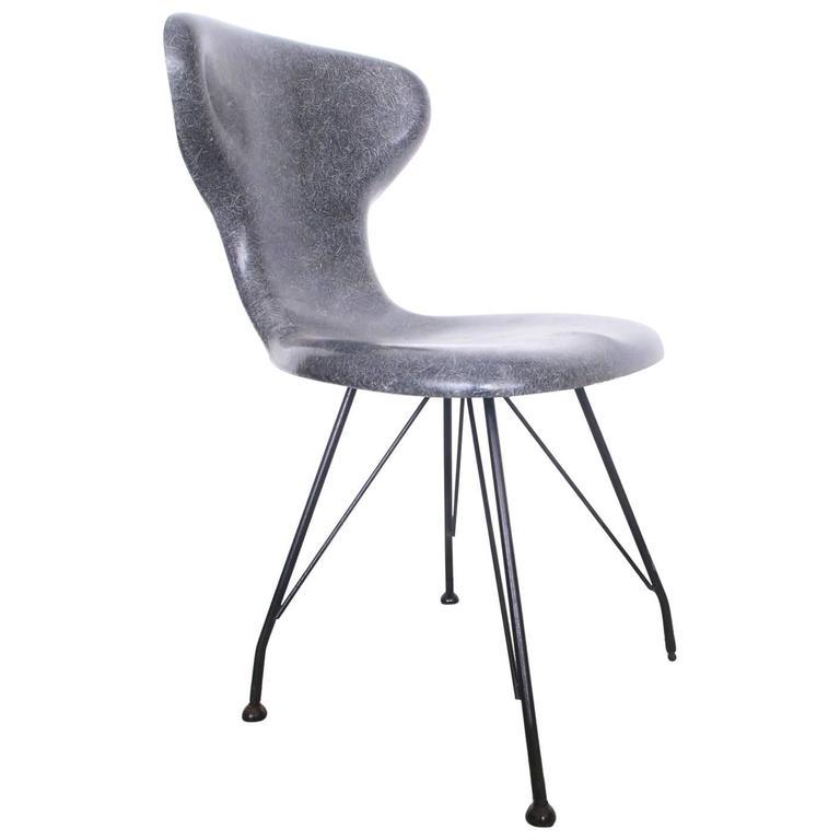 Rare Egmont Arens Fiberglass Chair For Sale