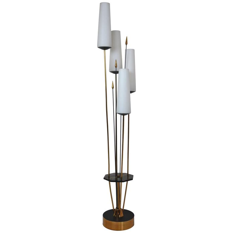 French Low Floor Lamp in the Manner of Maison Arlus