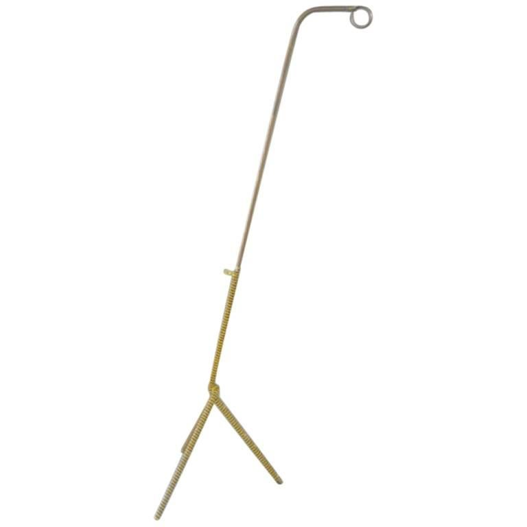 French Mid-Century Modern Articulating Floor Lamp Attributed to Jean Royere