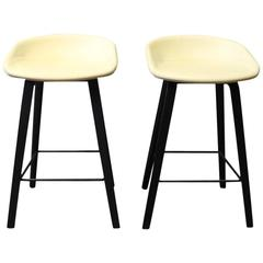 """Pair of Barstools """"about a Stool"""" ASS32 Designed by HAY in 2010"""