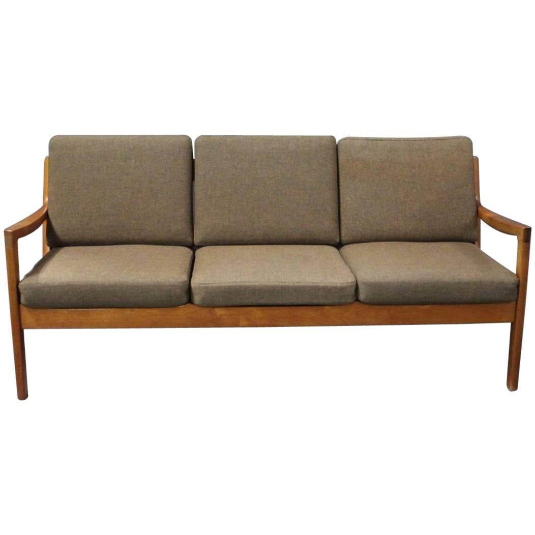 Three-Seat Sofa, Model Senator 166 by Ole Wanscher for France & Son, 1950s