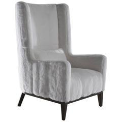 """""""Saint-Moritz"""" Armchair White Mink Upholstery"""