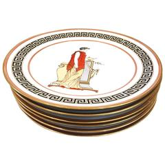 Italian, 1950s, Neoclassical Decorative Plates