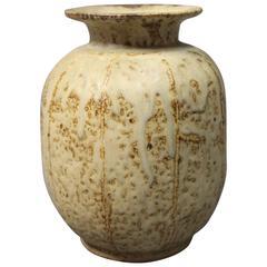 Ceramic Vase in Light Colors by the Danish, German Artist Carl Halier, 1927
