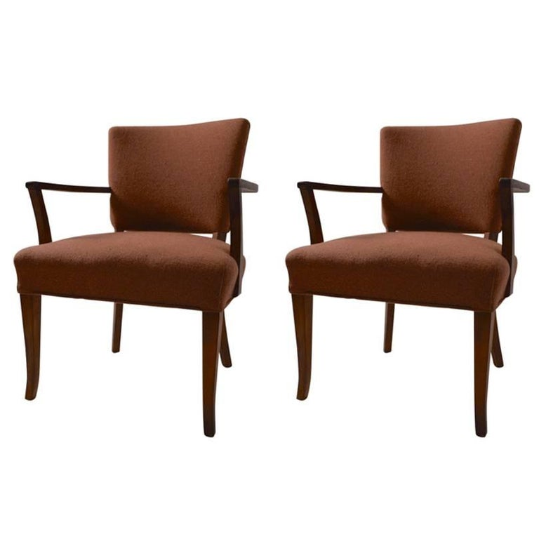 Stylish Pair of Armchairs For Sale