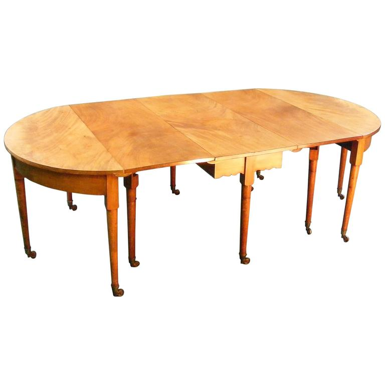 Georgian Pear Wood Dining Table At 1stdibs
