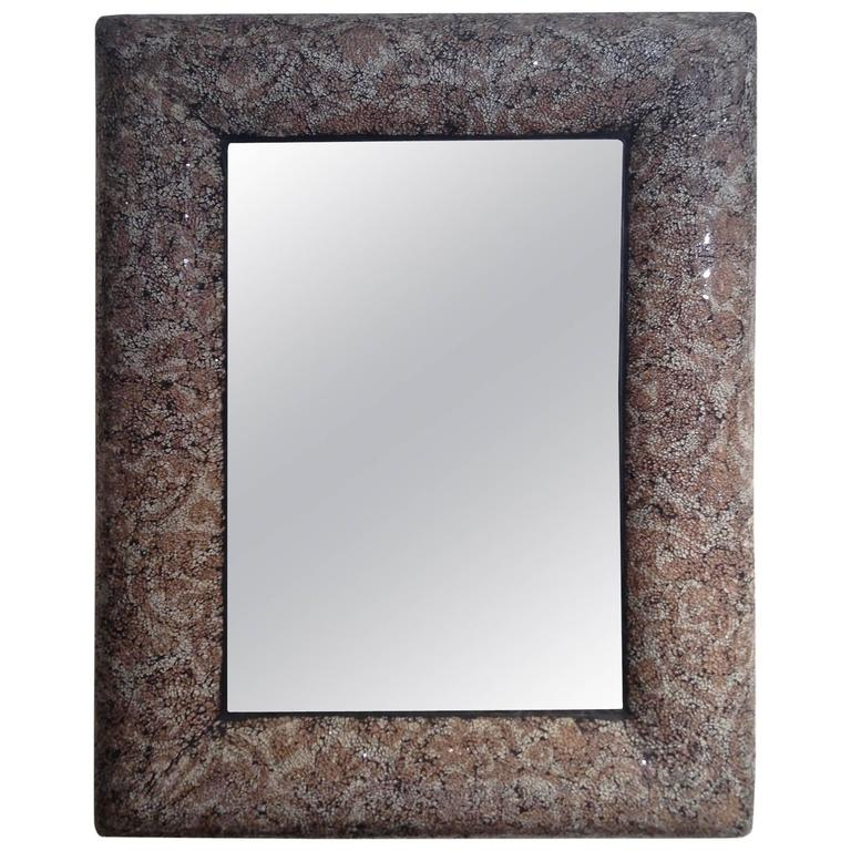 mosaic glass frame mirror for sale at 1stdibs