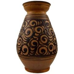 Kähler Glazed Stoneware Vase, Denmark, 1930s