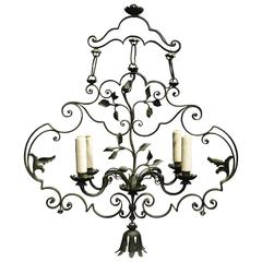 Antique Chandelier, Wrought Iron