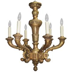 Antique Chandelier in Giltwood
