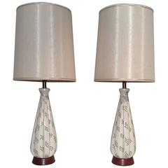 Pair of Mid-Century Lamps