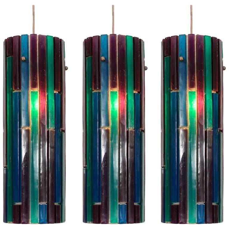 Set of Three Resin Pendants