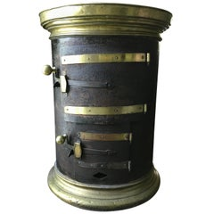 Rare French Brass and Iron Stove, circa 1850