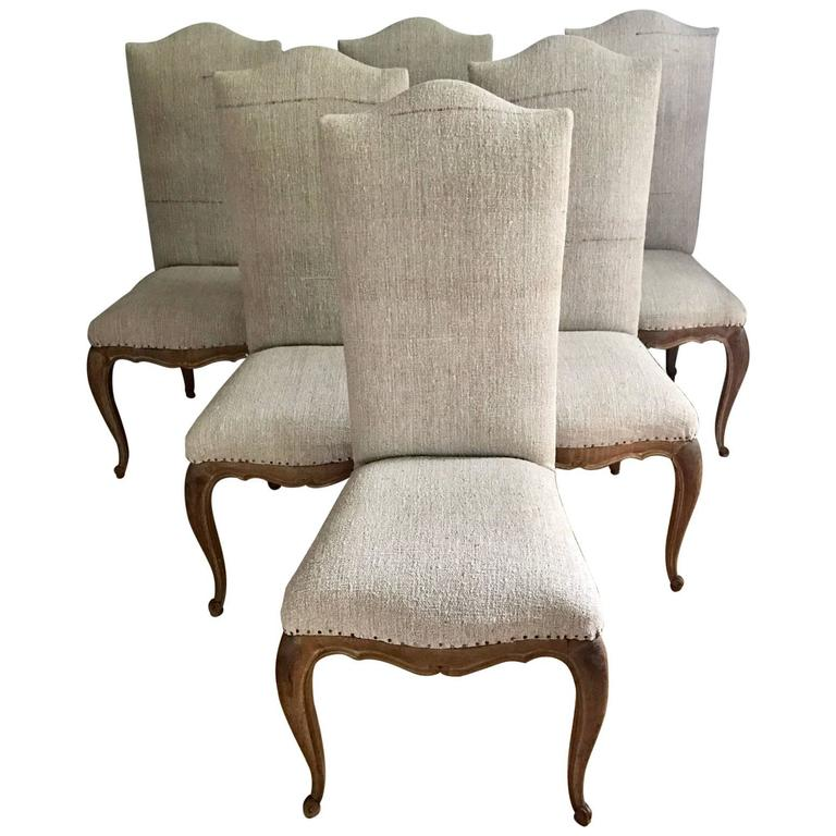 Set of Six French Dining Chairs 1