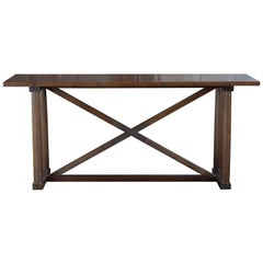 Carden Console in Marrakesh Stained Walnut and Darkened Brass