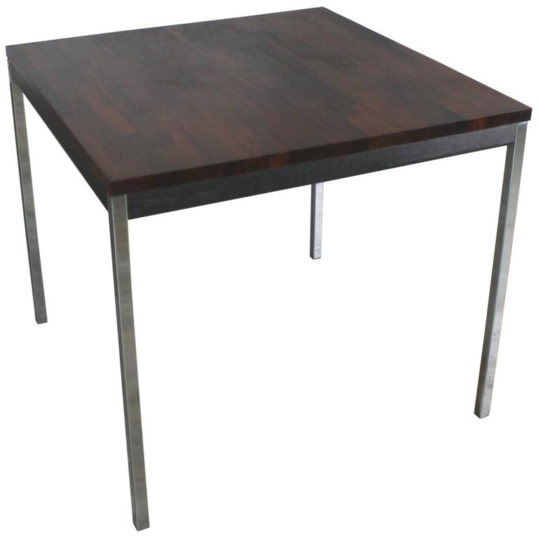 Vintage MidCentury Modern Baughman Style Chrome Rosewood And Ebony - Mid century modern card table