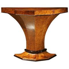 Art Deco Pedestal Console Table