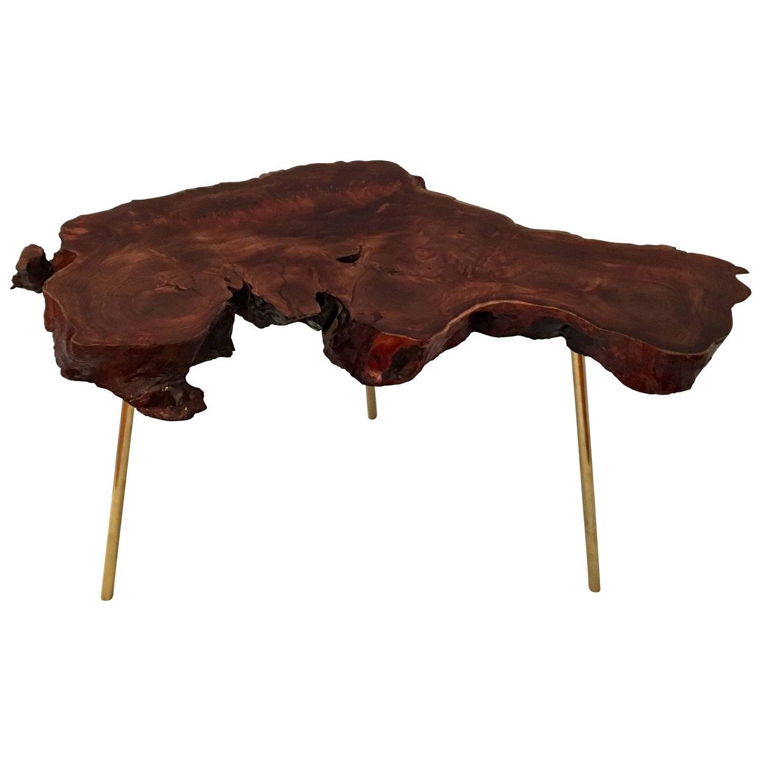 Popular 194 list wood slab coffee table for Wood slab coffee table