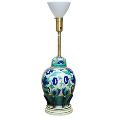 Italian Ceramic Faience Table Lamp by Marbro