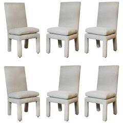 Set of Six Milo Baughman Parsons Dining Chairs