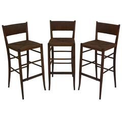 Set of Three Italian Bar Stools