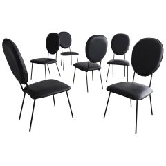 Set of Six Chairs Designed by Joaquim Tenreiro, Brazil, circa 1958